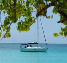 Sun Odyssey 37 : At anchor in The Caribbean